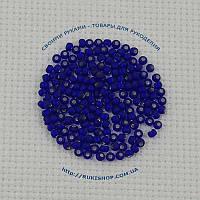 Чешский бисер Preciosa 37100 матовый блестящий синий 5bf0bd402a666