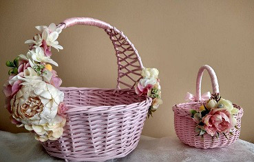 Декоративные корзины из лозы