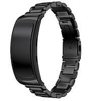 Металлический ремешок для фитнес браслета Samsung Gear Fit 2 / Fit 2 Pro (SM-R360 / R365) - Black