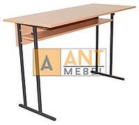 Парта стіл учнівський двомісний не регульований (4,5,6 зріст) прямі кути без полиці