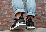 Жіночі кросівки в стилі adidas H. F. 1.4 Primeknit Sneakers Black White, фото 6