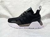 Жіночі кросівки в стилі adidas H. F. 1.4 Primeknit Sneakers Black White, фото 2