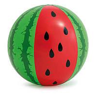 Мяч Арбуз, 107см, ремкомплект, 3+, 58071