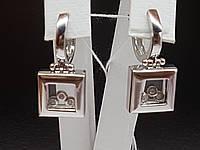 Золотые серьги с фианитами. Артикул 101058б, фото 1