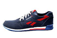 Мужские кожаные кроссовки Anser Reebok New Line dark blue red