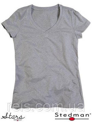 Женская футболка с V-образным воротом SST9910 GYH, фото 2