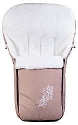 Зимний конверт Qvatro № 25 мутон капучино с узором