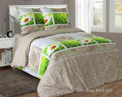 Комплект постельного белья семейный  LOVE STORY (навол.70*70)
