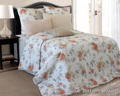 Комплект постельного белья евро  ВИЗАВИ ПОПЛИН (навол.70*70)