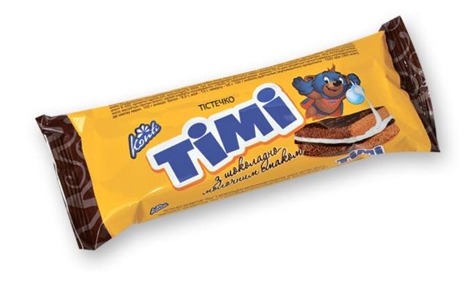 """Тістечко бісквітне """"Timi"""", 50 грам"""
