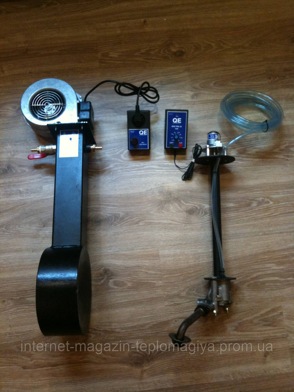 Пальник на відпрацьованому маслі Q-Elektronik 10-25 кВт (комплект)