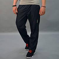 Утепленные штаны из плащевки - Reebok (рибок) / размеры 46-54, темно-синие