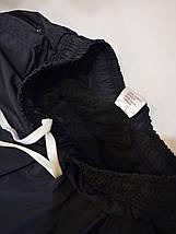 Утепленные спортивные штаны из плащевки - Nike (Найк) / демисезонные, размеры 46-54, темно-синие, фото 3