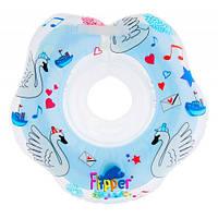 """Надувной круг на шею для плавания малышей Flipper 0+ с музыкой из балета """"Лебединое озеро"""""""