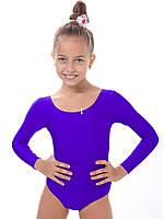 Купальник для танцев и гимнастики темно-фиолетовый