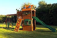 Комплексная деревянная детская площадка