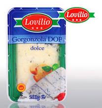 Итальянский пикантный сыр Gorgonzola DOP dolce Lovilio (сыр Горгонзола), 200 г.
