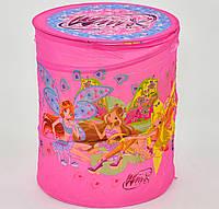 Корзина для игрушек розовая