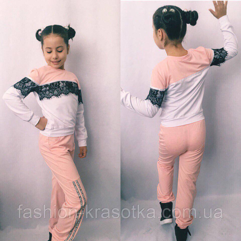 Модный спортивный костюм для девочки  в размерах 122-140