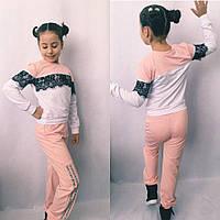 Модный спортивный костюм для девочки  в размерах 122-140, фото 1