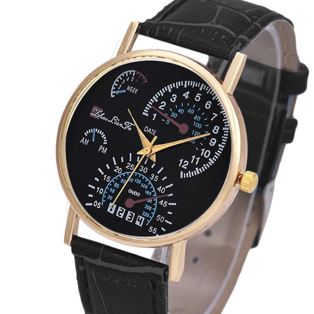 Часы Спидометр черные