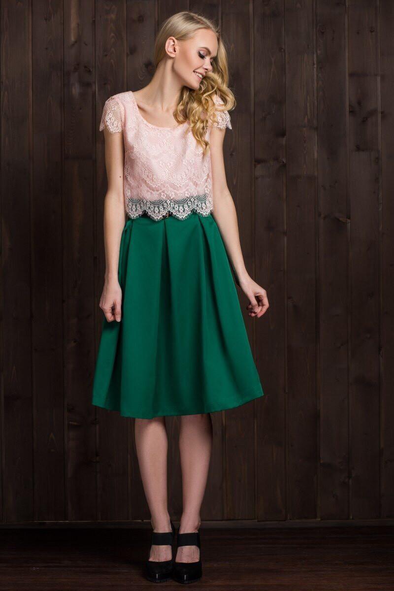 Элегантная женская юбка с пояском