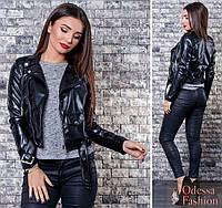 Модная кожаная куртка косуха демисезонная экокож новинка 2018 производитель  Украина 42 90fadc9448271