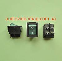 Кнопочный выключатель 28.5 х 22 мм, 250V 15А, цвет клавиши - синий