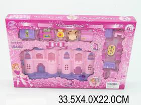 Домик CB 686-4 свет, муз,фигурка,собака,кровать,стол, 4 стула,диван,ванн