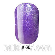 Гель-лак G.La Color, 10ml, цвет №068 (светло фиолетовый с блестками),
