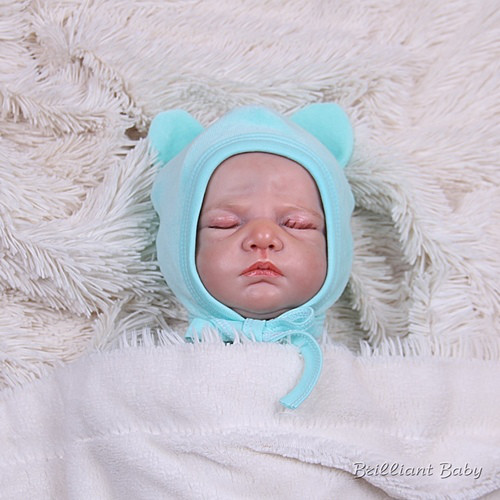 Велюровая шапочка для новорожденных Mini, ментоловая