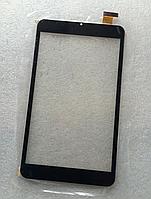 Оригинальный тачскрин /сенсор (сенсорное стекло) Assistant AP-875 (черный, без выреза под динамик, самоклейка), фото 1