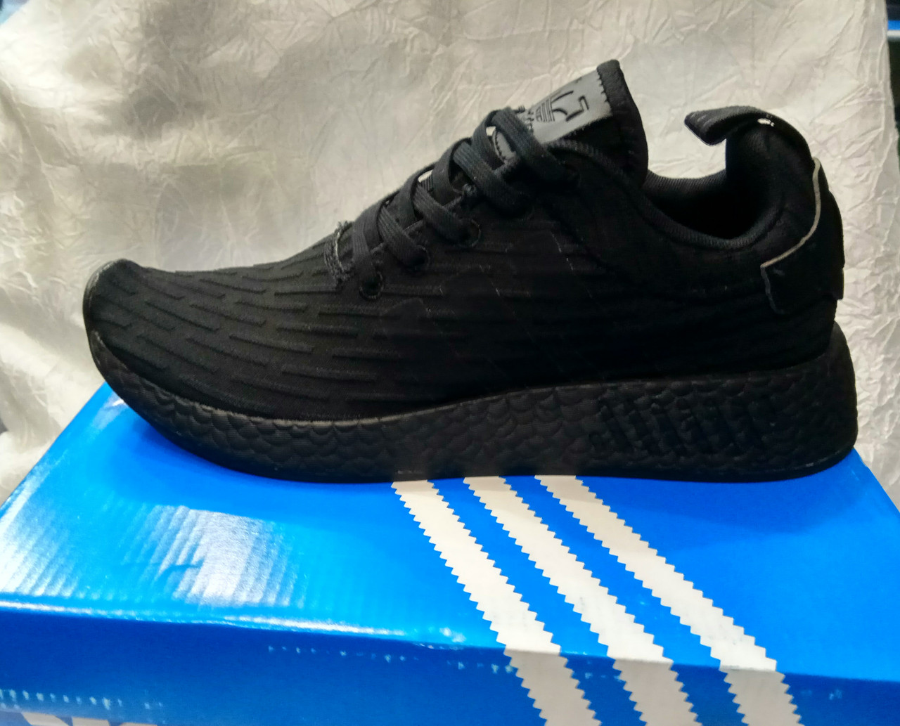 Мужские кроссовки Adidas NMd r2 pk черные