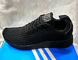 Чоловічі кросівки Adidas NMd r2 pk чорні, фото 2