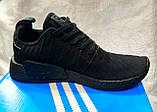 Чоловічі кросівки Adidas NMd r2 pk чорні, фото 3