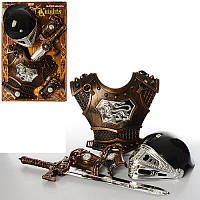 Набор рыцаря JT 339 A 1  доспехи, шлем, меч, на листе, 57-38-12см