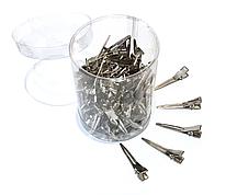 Зажимы металлические маленькие 4 см (комплект 100 шт)
