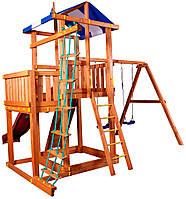 Детская площадка с качелями и и горкой