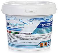 Химия для бассейнов хлор длительный Crystal Pool Slow Chlorine Tablets Large - 5 кг