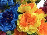 Искусственные цветы Разные цвета в упаковке Букеты Пионы