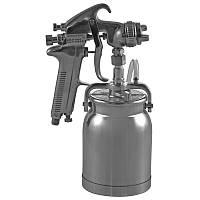 "Покрасочный пистолет ""Краскопульт"" 3-6 Атм, 337-421 л/мин, дюза 1,6мм, алюминевый бачок Jonnesway JA-507S"