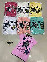 Летняя футболка со звёздочками для девочки Турция
