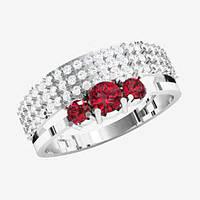 Кольцо  женское серебряное Бриллиантовый блеск KE-1437
