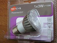LED лампа SENCYS 3 х 1W (Е27-4000К)