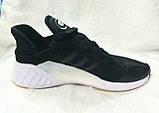 Чоловічі кросівки Adidas Climacool ADV чорні на білій підошві, фото 5