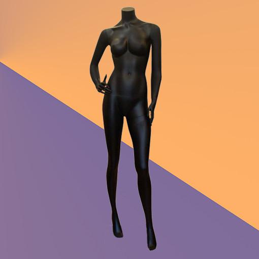 Манекен без головы матовый чёрный