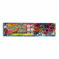 Оригінальний набір для плетіння кольоровими гумками,200 гумок, уценка. Вiдломан зубчик на станку