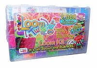 Loom Оригінальний набір для плетіння кольоровими гумками,2500 гумок.(500 гумок аромат.), пластикова коробка