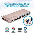 USB Type-C Хаб Promate macHub12 Gold, фото 2
