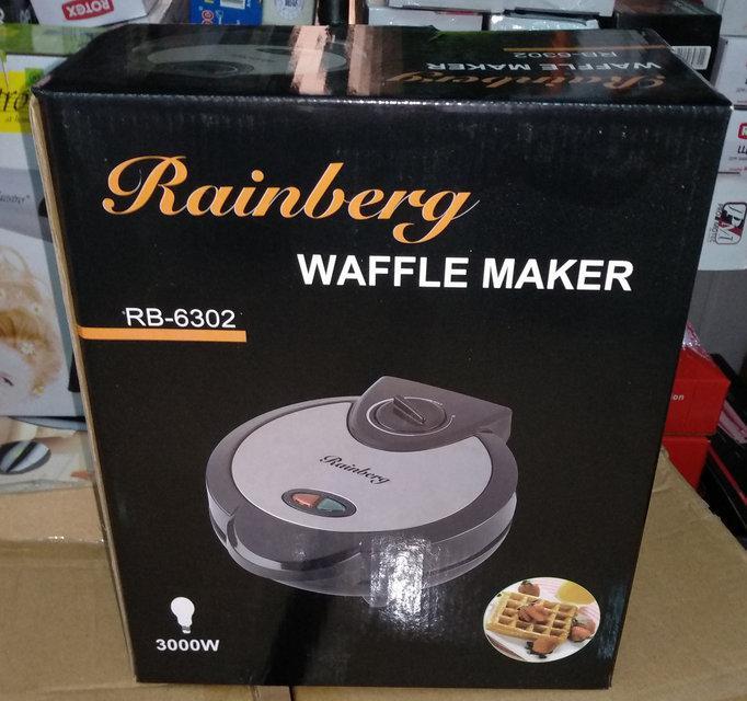 Вафельница для бельгийских вафель Rainberg RB-6302 с терморегулятором